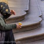 Bettlerin Mailand